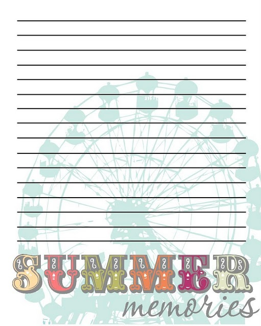 Summer memories journal printable memo papers pinterest for Planning colorado vacation