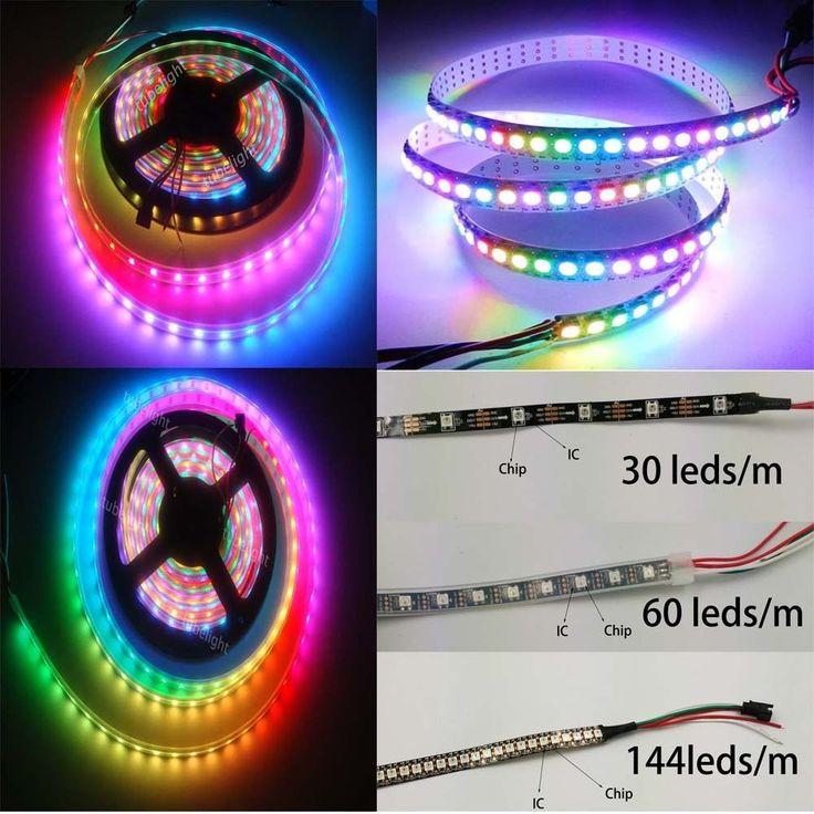 WS2812B 5050 RGB LED Strip 5M 150 300 Leds 144 60LED/M Individual Addressable 5V #Affiliate