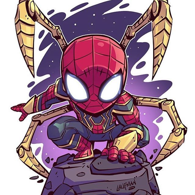 Repost Dereklaufman Iron Spider A Bunch Of New Prints For Sale In My Online Store Go Check It Out Www Derek Chibi Marvel Avengers Cartoon Marvel Cartoons
