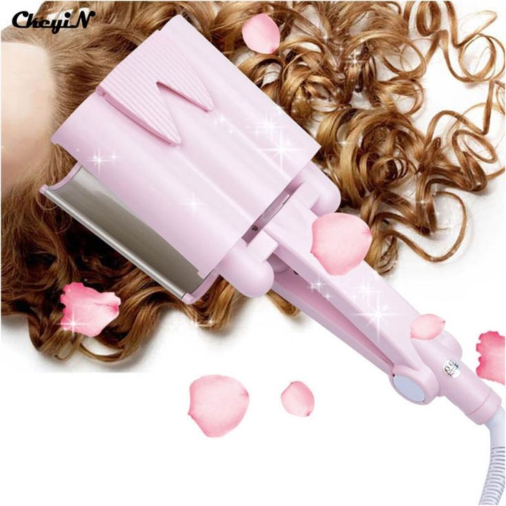 26.88$  Buy now - http://aliy1o.shopchina.info/go.php?t=32473075640 - Ceramic Tourmaline Deep Waver Hair curler Triple Barrel Curler Hair Curling Iron  Dual Voltage 110v-240v Free Shipping HS35F 47Z 26.88$ #shopstyle