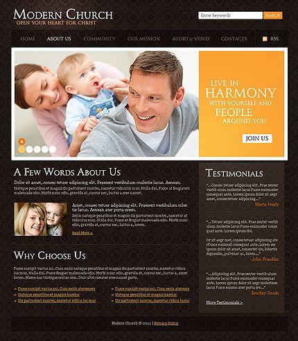 39 best images about church christian website templates. Black Bedroom Furniture Sets. Home Design Ideas
