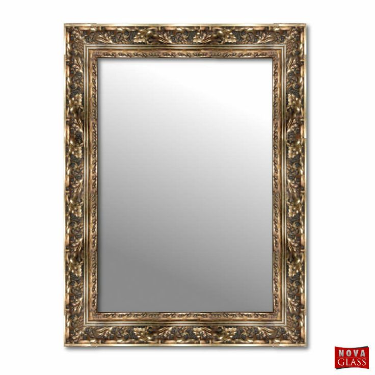 Καθρέπτης τοίχου με χρυσή σκαλιστή ξύλινη κορνίζα Νο 405Β