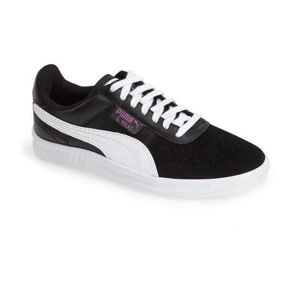 PUMA 'G. Vilas - Basic Sport' Sneaker (£34) ❤ liked on Polyvore featuring shoes, sneakers, puma footwear, rubber sole shoes, puma shoes, puma trainers and sports sneakers