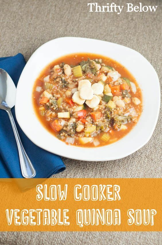 Slow Cooker Vegetable Quinoa Soup Recipe and 24 more Vegan dinner recipes