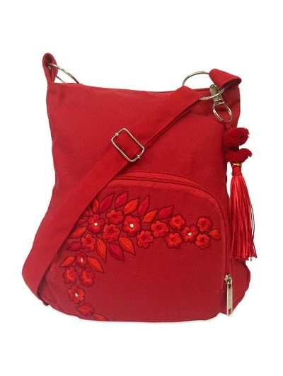limeroad is offering Trendy red sling bag with floral embroidery and woolen pom pom At Rs 319 How to catch the offer: Click here for offer page Add sling bagin your cart Login or Register Fill the shipping details Make final payment