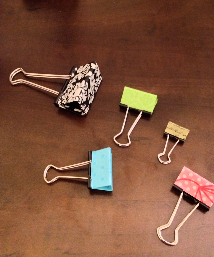 17 Best Images About Binder Clips/fun Organizing Ideas On