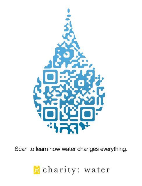 Perchè l'acqua cambia ogni cosa - QR Code realizzato per la raccolta di donazioni per la Charity Water  - - QR Code for Charity Water - Qr Code links to a video.