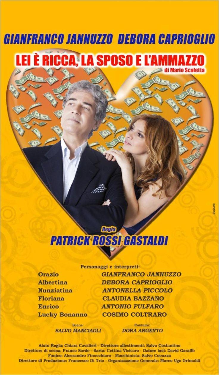 """Stagione teatrale, arrivano Jannuzzo e Caprioglio in """"Lei e' ricca, la sposo e l'ammazzo"""""""