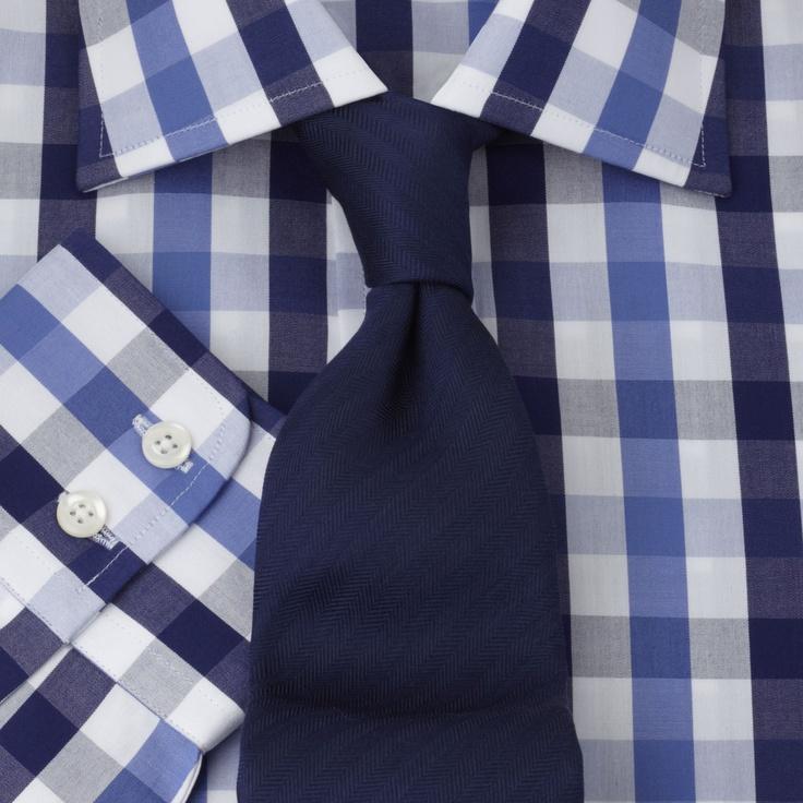 Blue Navy Check Regular Fit Shirt