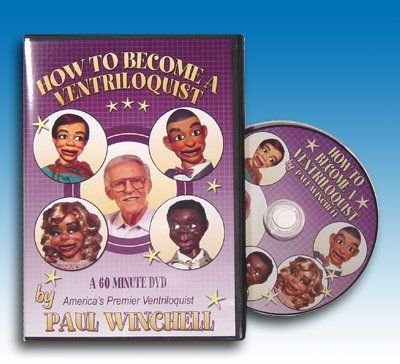 How to Become a Ventriloquist DVD By Paul Winchell  America's Premier Ventriloquist, Paul Winchell teaches the many techniques of the Art of Ventriloquism