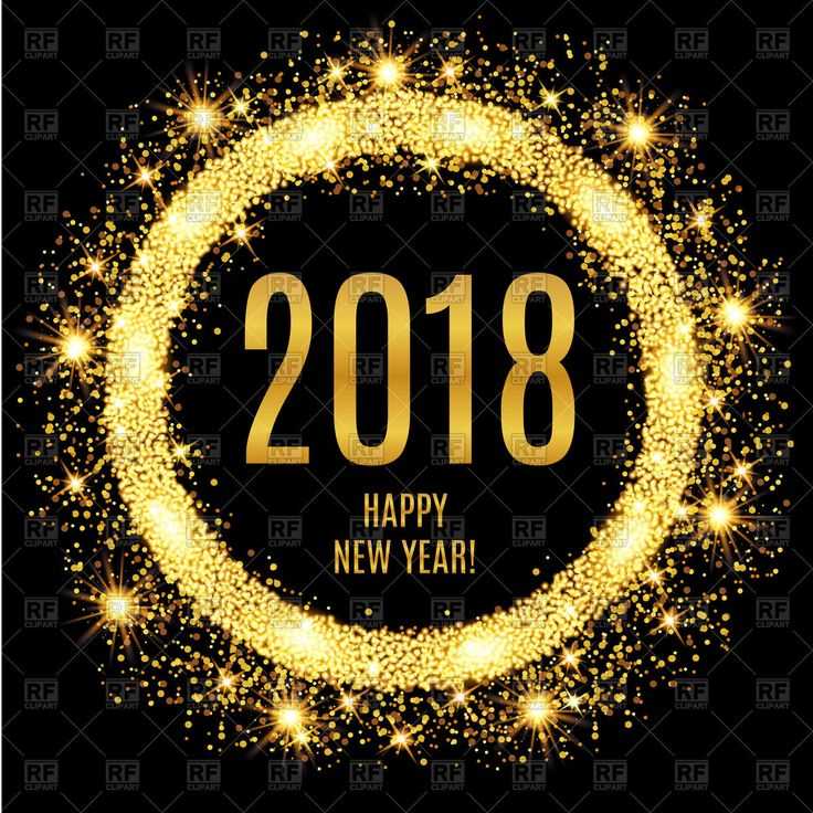 2018 happy new year glowing gold background vector image vector artwork of backgrounds textures abstract lake515 153352 christmas holiday vector