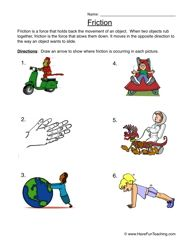 Friction worksheet ks2