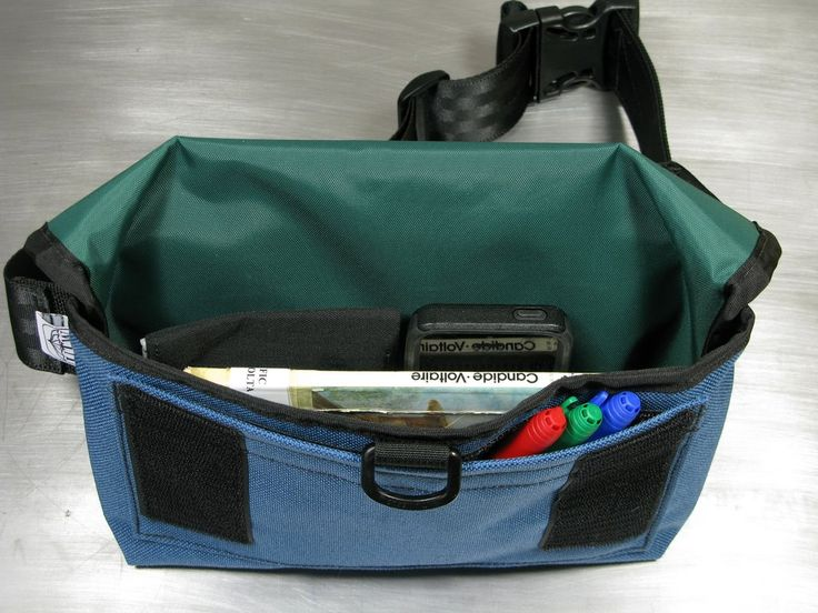 2Hip4U Pro Messenger Hip Pouch in Slate Blue and Forest Green
