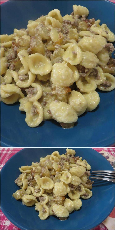 Orecchiette macinato e patate, facili e gustose ! #orecchiette #macinato #patate #ricettegustose