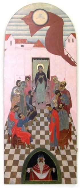 Icon The Descent of the Holy Spirit - Petro Kholodny (Elder) 1920