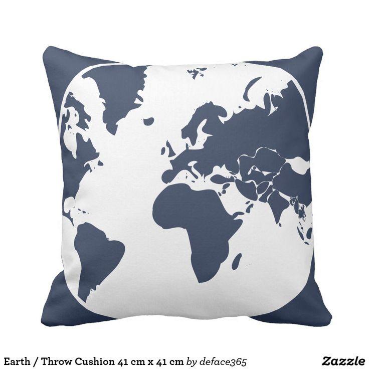 Earth / Throw Cushion 41 cm x 41 cm