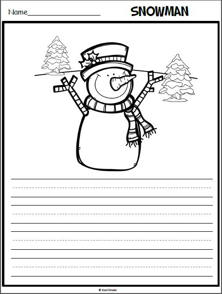 Snowman Writing Page with a Picture Prompt