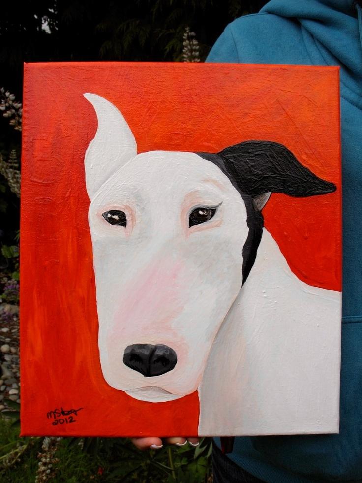 Basil the bull terrier