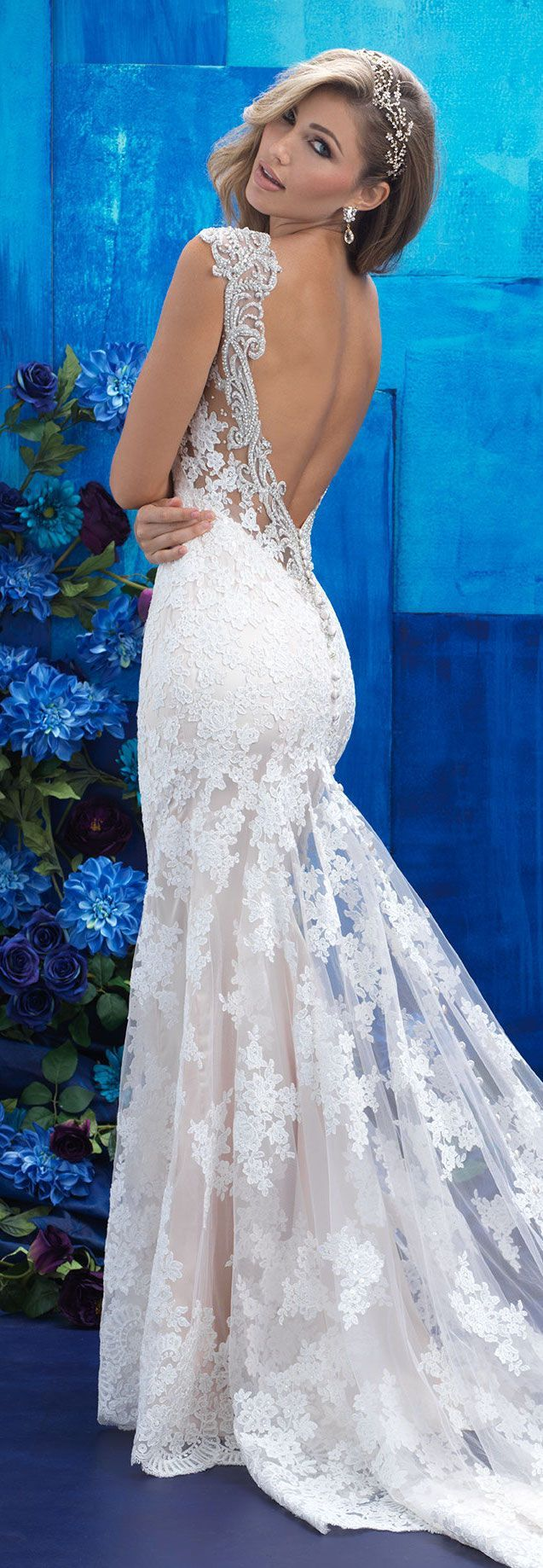 Lace Wedding Dress by Allure Bridals 2017 Collection | @allurebridals