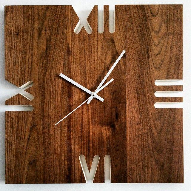 Black walnut wall clock