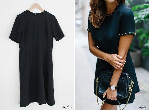 Before & After: Little Black Studded Dress