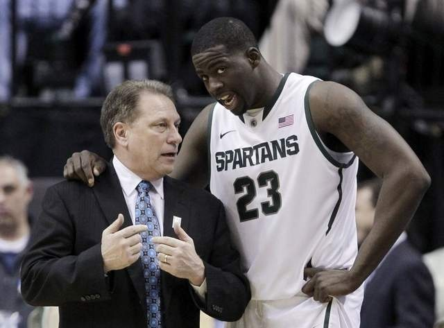Coach Izzo with the one and only Draymond Green