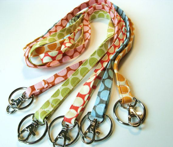 Handmade Fabric Skinny Lanyard  Optional by gracieloukangaroo: