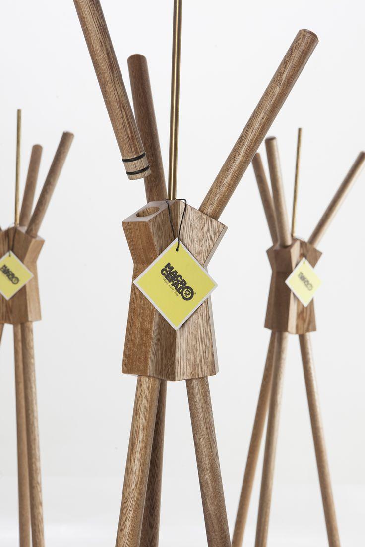 TIPI Rack. Designed by Camilo Cálad for Macrocéfalo Diseño. #rack #perchero #design #furniture #diseño #wood #madera
