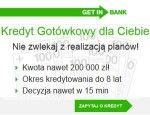 Recenzujemy kredyt gotówkowy Getin Bank, który jest udzielany do kwoty 200 000 zł na okres do 8 lat. Jest to doskonały kredyt dla z niskim dochodem, gdyż jest dostępny już 500 zł dochodu netto. Kredyt w Getin Banku można otrzymać online na wyjątkowo prostych zasadach bez poręczenia i
