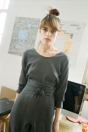 Grey Wool Kung Fu Jumpsuit - Dresses + Jumpsuits