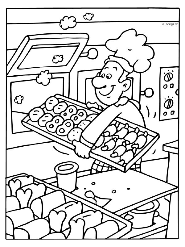 Idee: Bakfeestje Bakkersmutsen maken, kleuren, koekjes en broodjes bakken, bakkertje-prik, koekhappen...