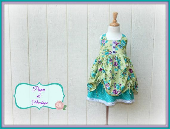 Little Girl Dress  Little Girls Sundress  by PippaAndPenelope