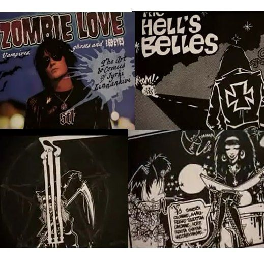 Zombie Love - The Story of The 69 Eyes. Drawing by @jyrki69  #jyrki69 #jyrkilinnankivi #the69eyes #comic #zombielove #goth #dark #awesome