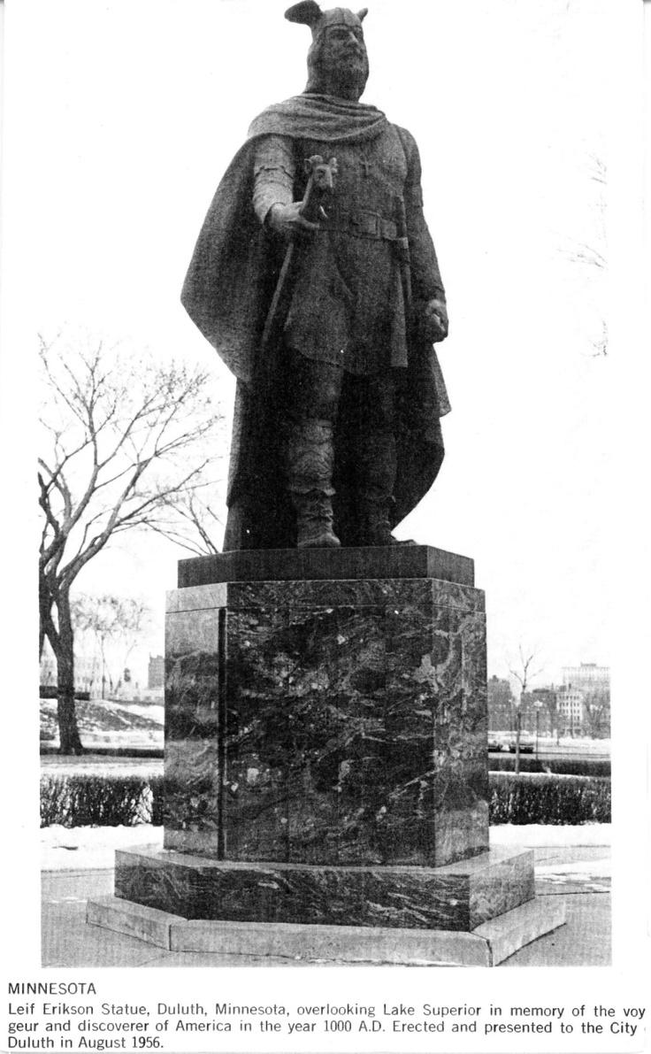 Leif Erikson statue..reminded me of sponge bob happy Leif erikson day!