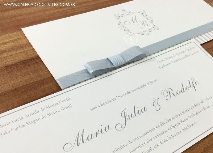 Convites para casamentos clássicos - Galeria de Convites