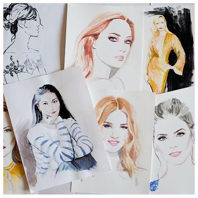 Portraits, illustration by Irina Sibileva