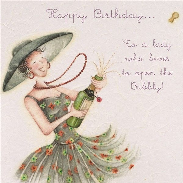 To a lady who loves to open Bubbly