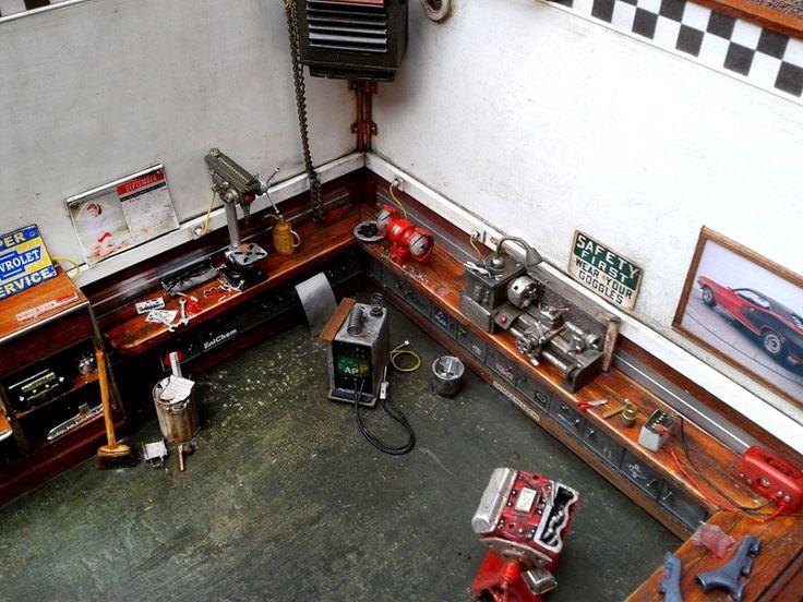 Garage diorama enti rement d taill et enti rement scratch for Garage a construire