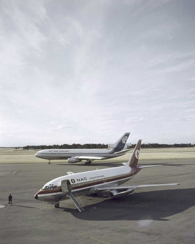 NAC Boeing 737 and Air New Zealand DC10; image Mannering and Associates Limited