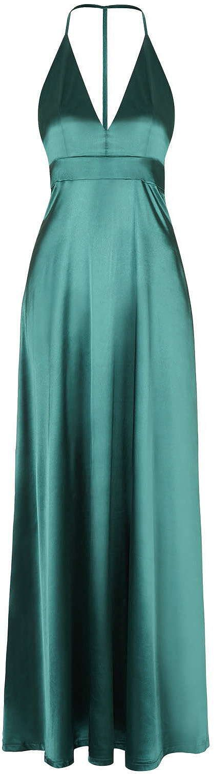 Womens teal maxi dress from Topshop - £68 at ClothingByColour.com