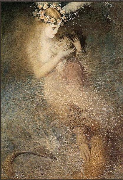 The Little Mermaid ~ by Russian artist Gennady Spirin (1948- )