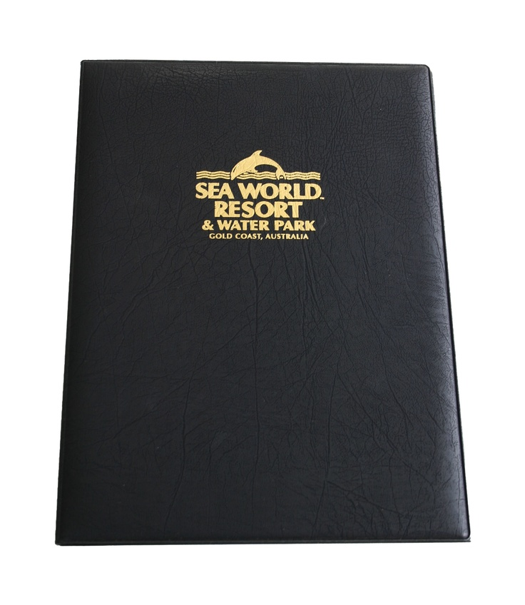 Classic Menu Cover with Gold Print http://fcmsales.com.au/