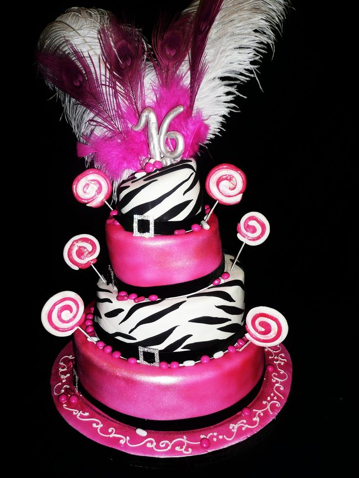 dance cakes for sweet 16 birthdays | Sweet 16 Candy and Zebra Theme