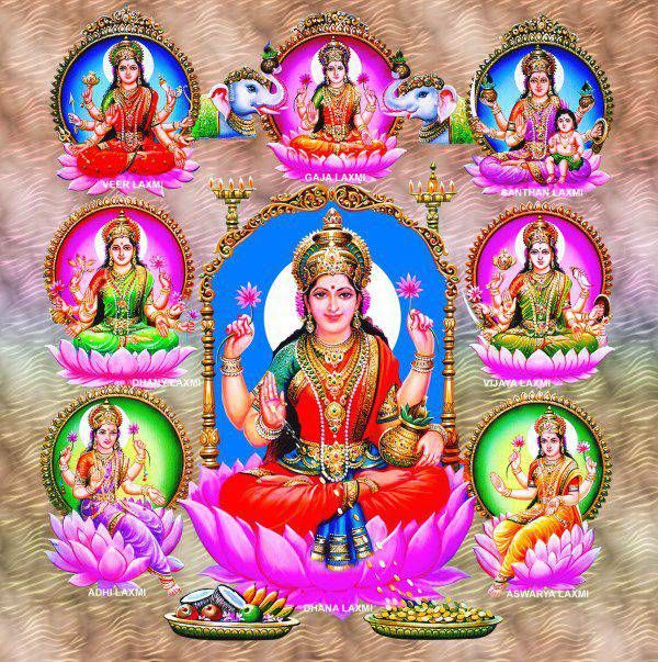 8 Forms of Godess Lakshmi - Hindu Godesses and Deities