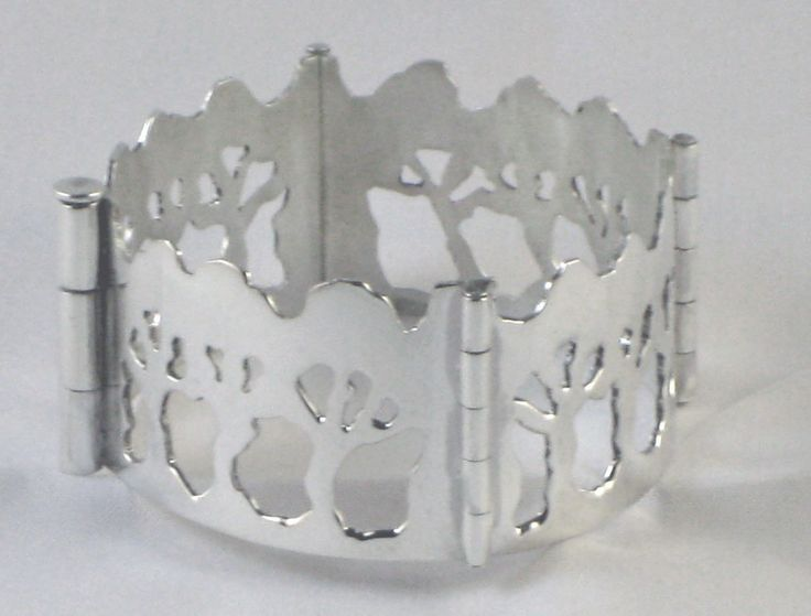 Boree Branches sterling silver bracelet cuff by PeriaptJewellery on Etsy