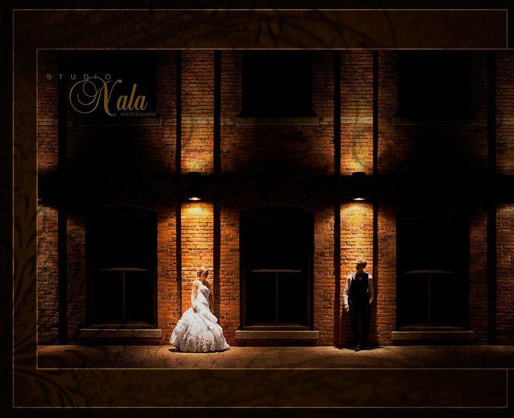 photographe mariage, wedding portrait by night