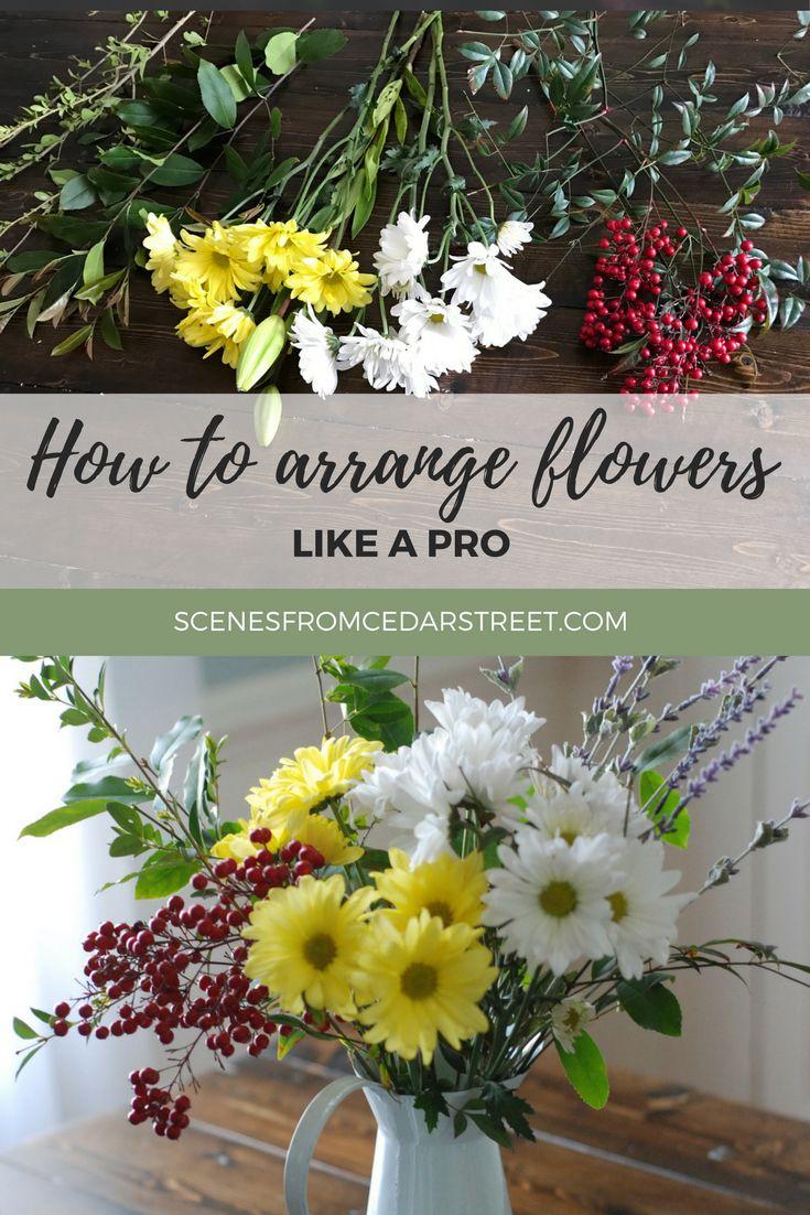 5 STEPS TO AN EASY FLOWER ARRANGEMENT