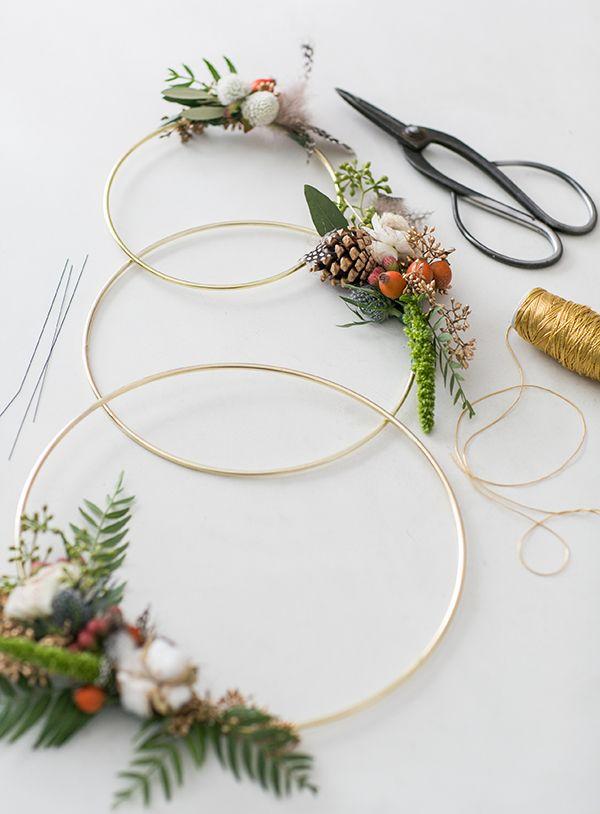 3 ring modern wreath // Sugar and Charm