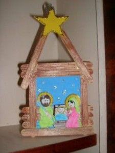 Artes de natal com palitos de picolé