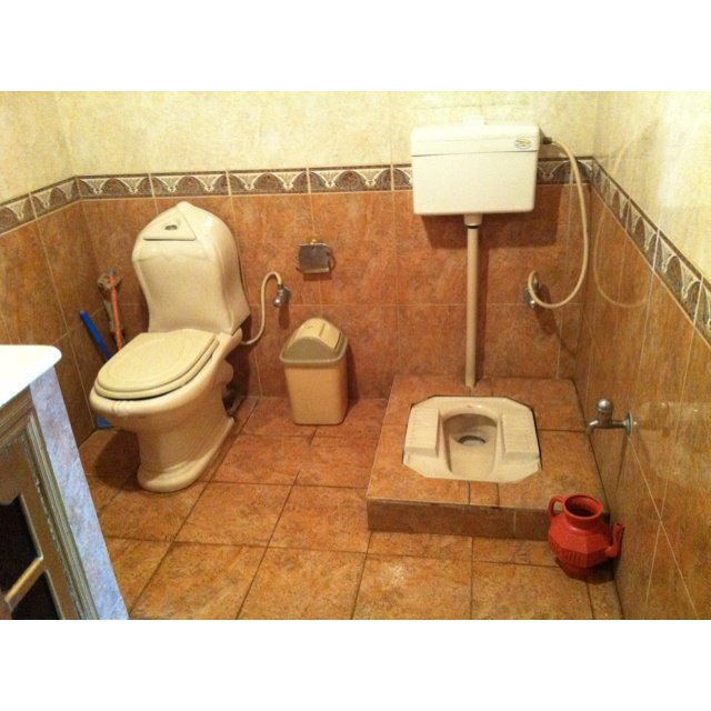 Two Toilets In A Middle Class Pakistani Home 2012 One Commode And One Persian Style Squat